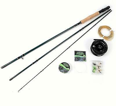 Matt Hayes Fly Fishing Kit Set Rod Reel Line Flys Backing Leader 99-8003