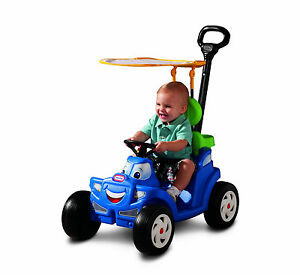 Little Tikes Kids Cozy Roadster Ride on Toy Car Truck Push Pull Wagon Canopy NEW