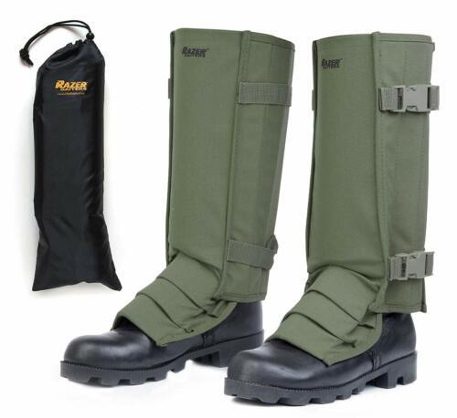 Snake Gaiters + Storage Bag - Snake Bite Protection for Lower Legs - Olive Drab