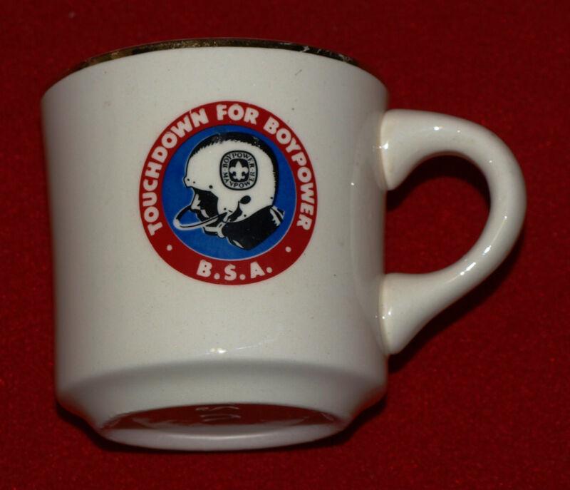 """BOY SCOUT COFFEE MUG...""""TOUCHDOWN FOR BOYPOWER""""...BOYPOWER - MANPOWER"""