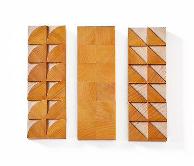Letterpress Modular Geometric Shapes-wood Type 6 Line 254 Mm - 36 Pieces