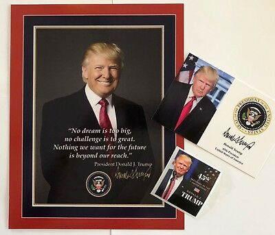 "President Donald Trump 8 1/2""x11  on Card Stock... Photo Portrait Picture + 4x6"