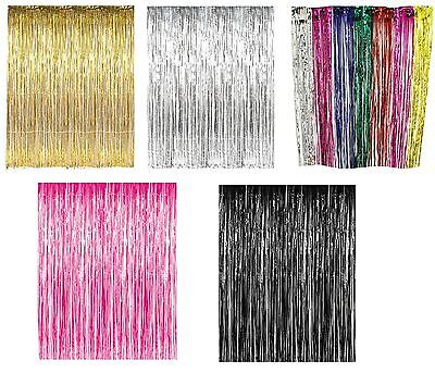 Foil Fringe Curtains Photo Booth Tinsel Door Backdrop Party Decoration#](Photo Booth Curtains)