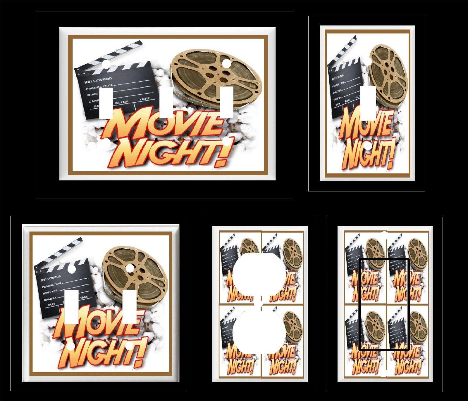 movie night home theater movie reel light