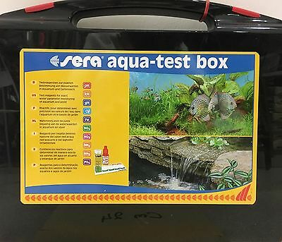 SERA Acqua Test Reagenti Acquario dolce Ph Kh Gh Fe No2 No3 Nh4 Nh3 Po4 Cu BOX
