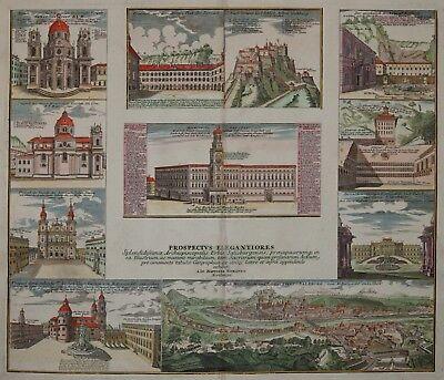 Salzburg - Homann 1720 - Original - Rare engraving - Old coloured