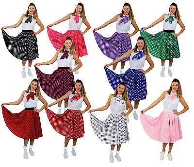 POLKA DOT TUPFEN ROCK FRAUEN ROCK&ROLL 1950er KOSTÜM VERKLEIDUNG  TANZ (1950 Tanz Kostüm)