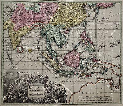 Indien, Südostasien -Southeast Asia - India Orientalis -Rare map by Seutter 1740