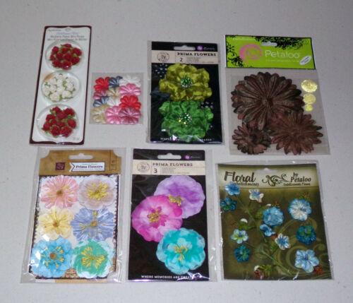 Flower Embellishment Lot - Prima, Petaloo, Recollections