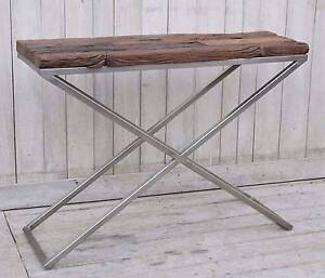 RAILWAY SLEEPER CONSOLE  DISPLAY SHELF /CABINET Manly Vale Manly Area Preview