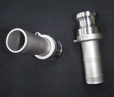 Stainless Steel Cam Lock Adapter 1 Male - 1 Hose Barb Clhb100
