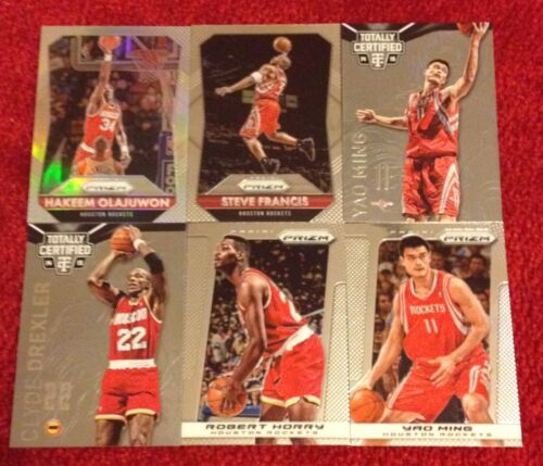Rockets 6 Pack Greats Lot Hakeem Olajuwon Clyde Drexler Prizms Silver - $0.99