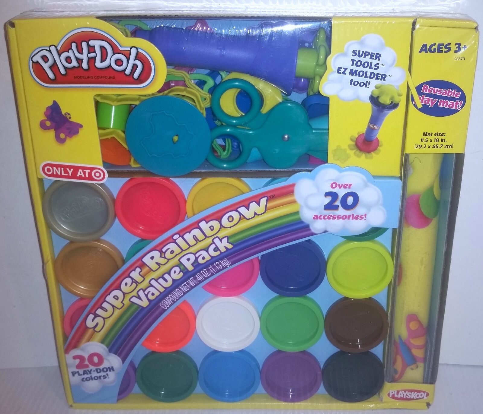 NEW Play-Doh Super Rainbow Value Pack w/20 Colors,Over 20 Ac