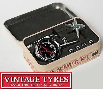 THE VINTAGE TYRES TYRE SERVICE KIT Pressure gauge, tread depth, valve tool
