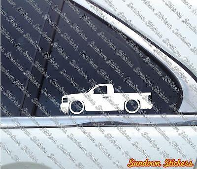 2X Lowered truck stickers - for Chevrolet Silverado regular single cab 2006-2013