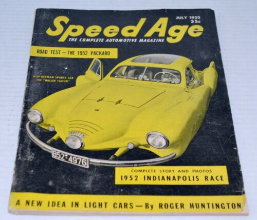 July 1952 Speed Age Racing Car Nascar Magazine Including Packard Road Test