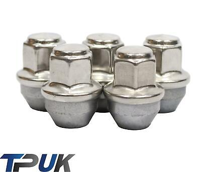 Car Parts - FORD TRANSIT MK8 CUSTOM SET OF 5 WHEEL NUTS STAINLESS STEEL CAP 2012 ON M14X1.5