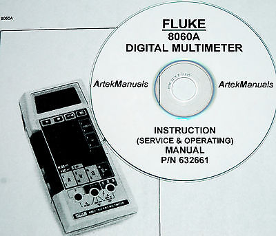 Fluke 8060a Dmm Operating Service Manual With Schematics