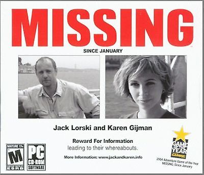 MISSING Since January PC Game CD-ROM Adventure NEW - Since Games