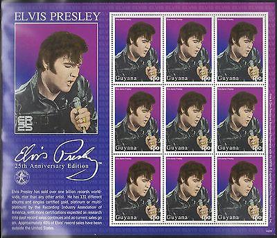 GUYANA MNH 2002 ELVIS PRESLEY ON 2 SOUVENIR SHEETS