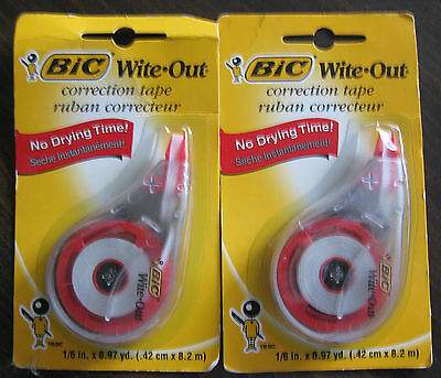 Collectible 2 Packs Bic Wite-out Correction Tape Years Gone By Packaging Sealed