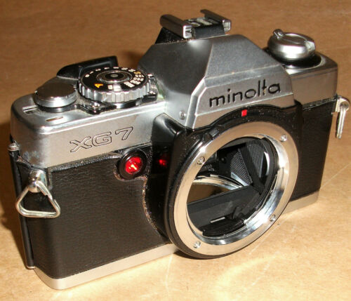 CAMERA SLR 35MM FILM MINOLTA XG-7 BODY ONLY AS-IS