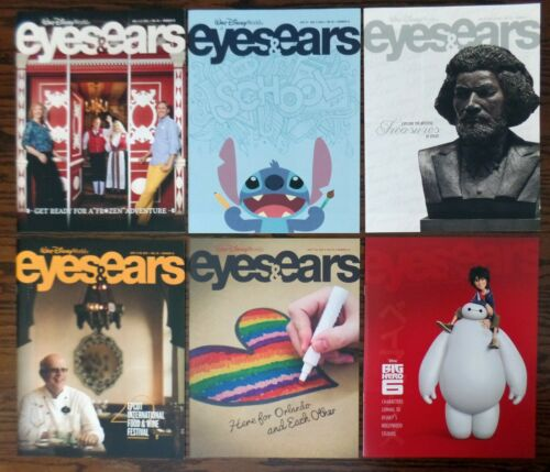 Walt Disney World Eyes And Ears Cast Member Newsletter Magazines Lot of 6 New