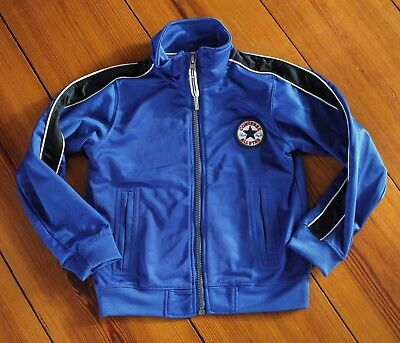 New CONVERSE ALL STAR KID CHUCK TAYLOR Blue TRACK JACKET Boy Girl 3-4 XS - Childrens Converse Jacket