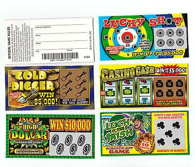 10  Phony Fake All Winning Scratch Off  Lottery Tickets  Joke  Prank  Gag Gift
