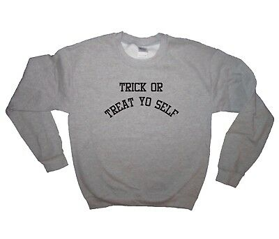 sweatshirt trick or treat yo self halloween funny adult costume idea cute creepy - Cute Costumes Ideas