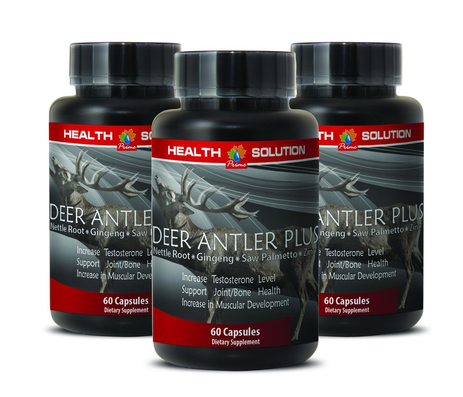 Muscle Growth Capsules - Deer Antler Plus 550mg - Nettle ...