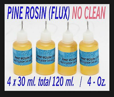 120 Ml.  Rosin No Clean Soldering Solder Liquid Flux Reflow  Needle Tip Bottle