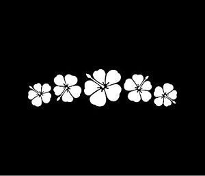 HIBISCUS FLOWER SPRAY Vinyl Decal Car Window Bumper Sticker Hawaiian