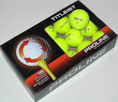 15 Titleist NXT Tour S Yellow AAAAA used golf balls LOT 88237