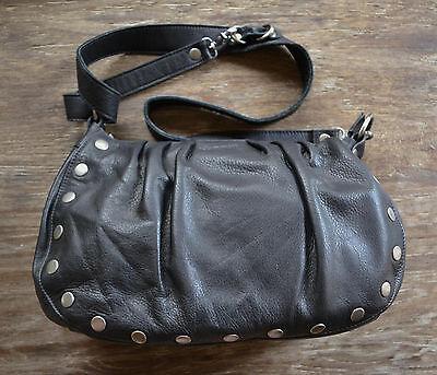 Avalon Black Leather - Hammitt Avalon Dember Black Leather & Antique Nickel Hobo Couture Hand Bag