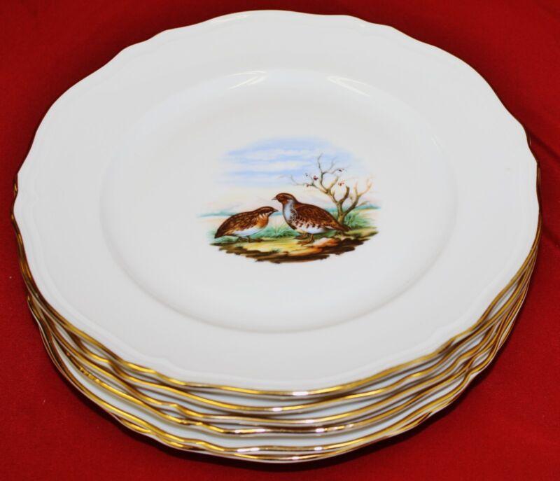 Richard Ginori Game Bird Dinner Plates - Set of 6 - MINT