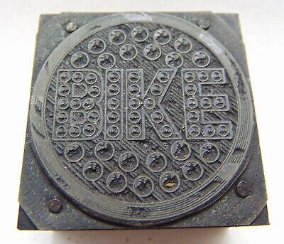 Printing Letterpress Printers Block Bike Marble Reflector