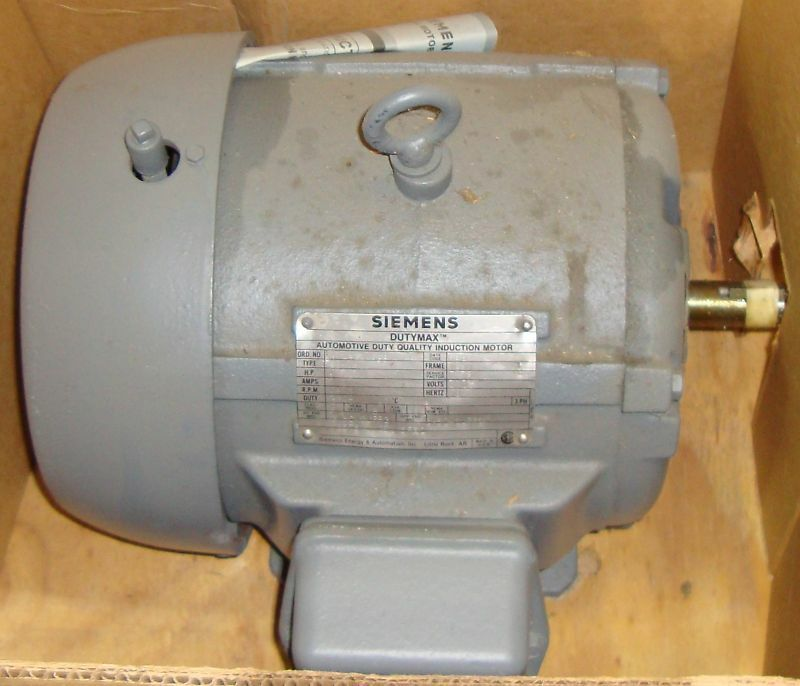New Siemens Electric Motor 1 HP 1770 RPM 9218LR