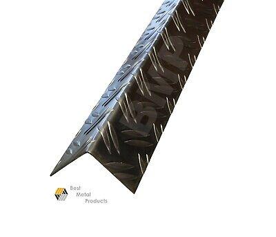 Aluminium Diamond Plate Corner Wall Guards Angle 1.5 X 1.5 X 48  0500105