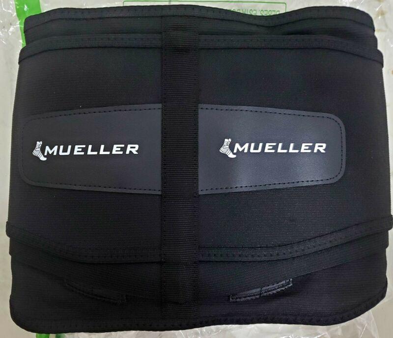 """Mueller 255 Lumbar Back Brace Black (NEW OPEN BOX) circumference of waist 22-34"""""""