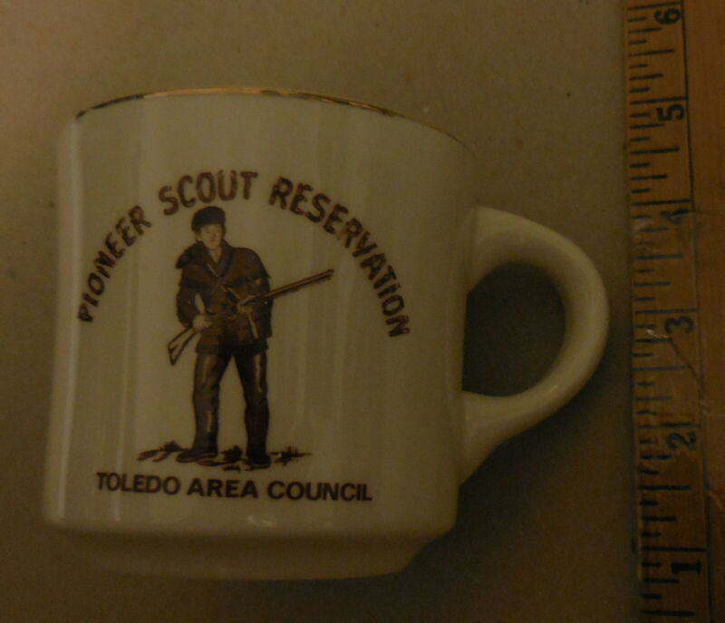 vintage Boy Scouts America  Mug Toledo OH Area Council Pioneer Scout Reservation