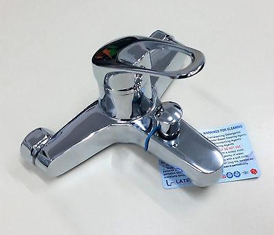 Badewannen Armatur Chrom Wasserhahn Mischbatterie Einhebel-Wannenmischer  NEU