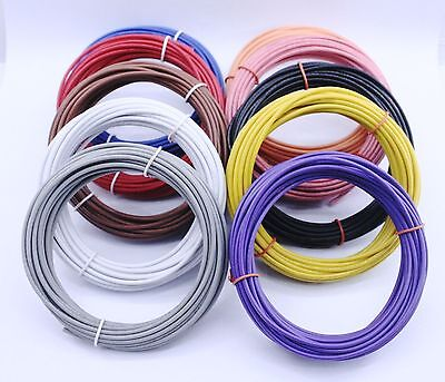 Ul1007-2-50 Red Color 22 Gauge Solid Hook Up Wire 50 Feet Bulk