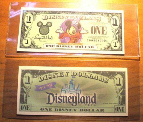 "(1) 2001 DISNEY DOLLAR - Mint Condition - MICKEY - SERIES ""A"" - Sorcerer Mickey"