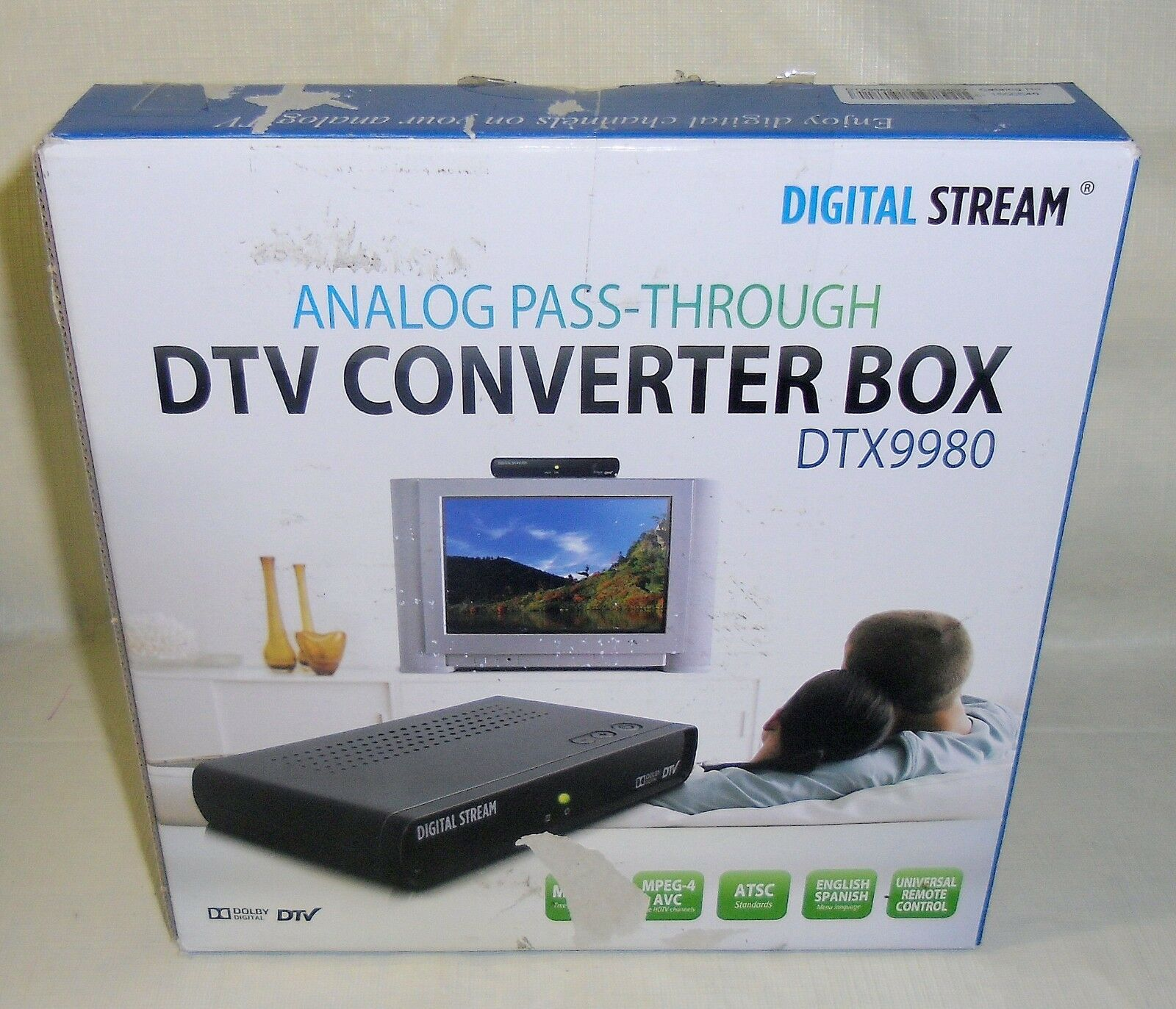 New Digital Stream DTX9980 DTV Converter Box Upgrade of DTX9950