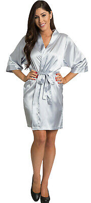 Silver Satin Robe-Luxury Bridal Party-Factory Seconds $32.99 DEAL](Party Factory)