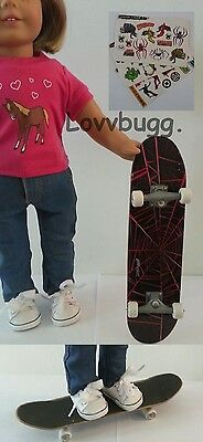 "Lovvbugg New Skate Board for 18"" American Girl Doll Accessory"