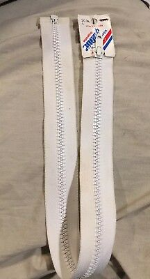 "- Coats & Clark 20"" WHITE Sport Zipper F43 Separating SCNCF43-20 1 C C *NEW"