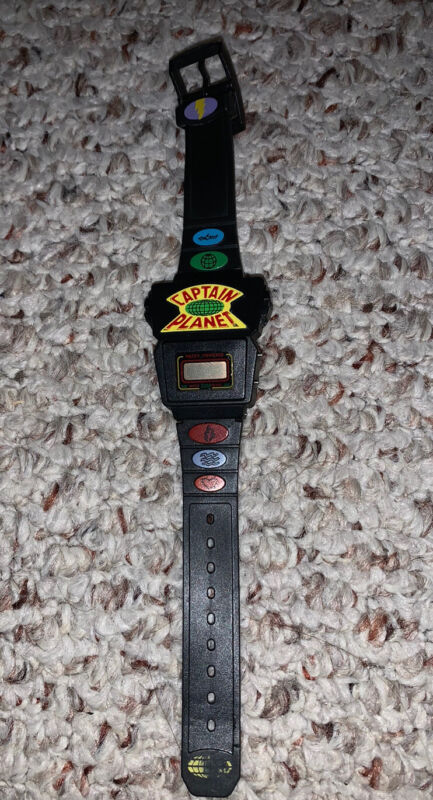 Captain Planet Water Powered Wrist Watch - Vintage - 1990 Untested