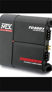 ^** MTX TC4001 CLASS D MONO BLOCK CAR AMPLIFIER